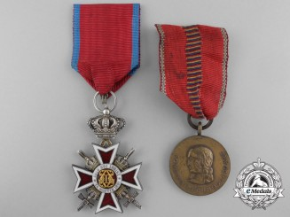 Two Romanian Orders and Medals