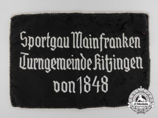 A Mainfranken District Gymnastics Club at Kitzingen Section Removed From Banner