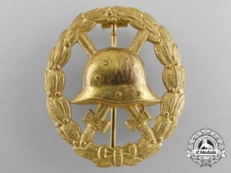 A Mint First War Gold Grade Wound Badge; Cut Out Version