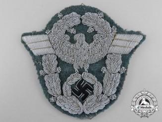 A Second War German Police Officer's Bullion Sleeve Eagle