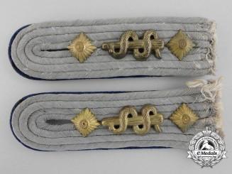 A Set of German Army Medical Officer Shoulder Boards
