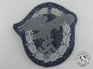 Germany. A Luftwaffe Observer's Badge, Cloth Version