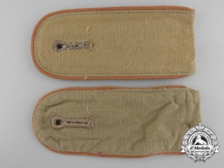 A Set of Worn Army Afrika Korps Enlisted Man's Shoulder Boards