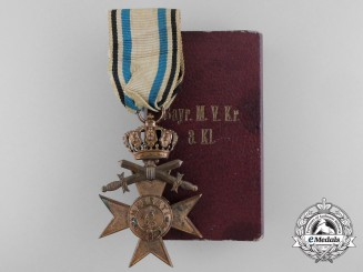 A Bavarian Military Merit Cross 3rd Class with Swords and Crown