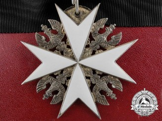 A Prussian Order of St. John; Cross of the Legal Knights with Case,