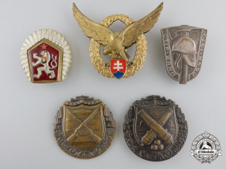 A Group of Five Czechoslovak & Slovak Awards