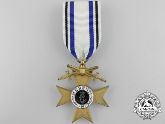 A Bavarian Military Merit Order; Merit Cross 1st Class with Swords