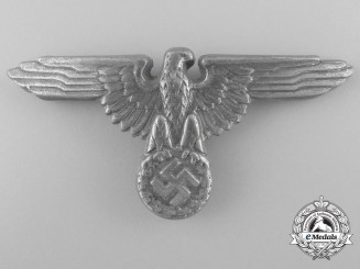 A Late War SS Visor Cap Eagle