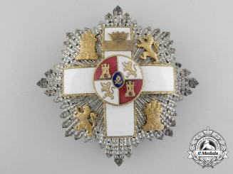 A Spanish Order of Military Merit with White Distinction; Grand Cross Star