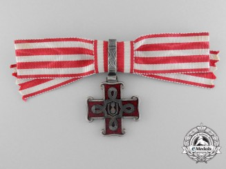 A Rare Croatian Order of Merit; Third Class Ladies Cross