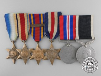 Six Second War British Campaign Medals