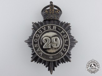 A Pre-1952 Vancouver Police Badge