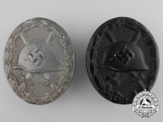 Two Second War German Wound Badges; Klein & Quenzer