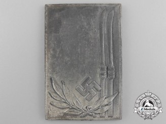 A German Ski Competition Plaque/Award