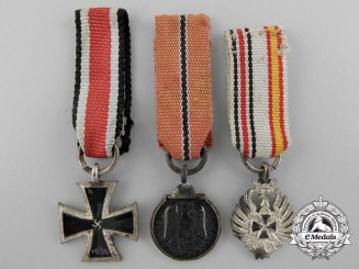 Three Spanish Made German Miniature Awards