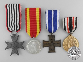 Four First War German State Medals & Awards