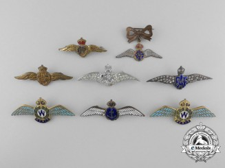 Canada. A Lot of Eight Canadian & British Second War Wings