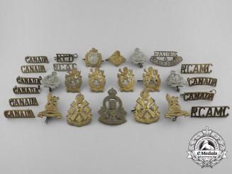 Canada. A Lot of Twenty-Seven Second War Period Badges