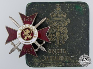 A First War Bulgarian Military Order for Bravery; 4th Class with Case