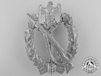 A Silver Grade Infantry Badge by F. Wiedmann