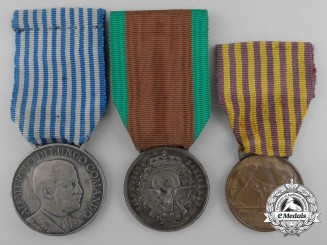 Three Italian Campaign Medals and Awards