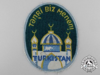 Germany. A Foreign SS Volunteer Arm Shield, Turkistan Legion, c.1944