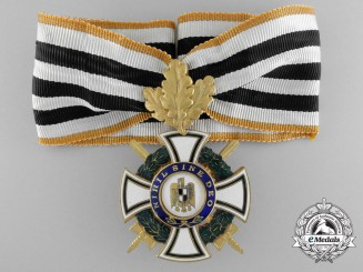 A Romanian Order of the Ruling House; Commander's Cross with Swords and Oakleaves