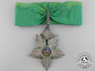 An Iranian Order of Homayoun; Commander's Badge