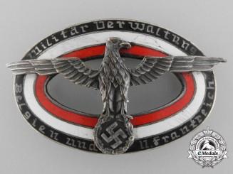 """Germany. A Wehrmacht Service Badge """"Militar Verwaltung"""""""