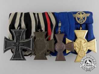 A German Imperial First War & Police Service Medal Bar