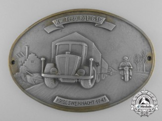 A German Army 616th Transport Regiment Plaque