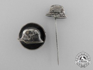 Two German Stehlhelm Veteran Badges