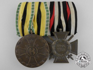 A First War Saxe-Meiningen Medal Pair