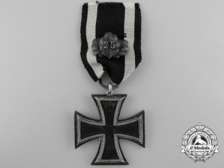 An 1870 Iron Cross 2nd Class with 25 Years Jubilee Oakleaves; Prinzen size