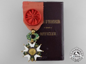 A French Legion D'Honneur in Gold; Third Republic Officer (1870-1919)