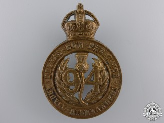 "A 94th Victoria Regiment ""Argyll Highlanders"" Militia Cap Badge"