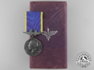 A Brazilian Santos Dumont Air Force Merit Medal with Case