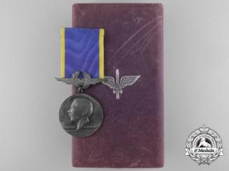 A Brazilian Santos Dumont Air Force Merit Medal with Case