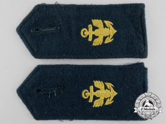 A Pair of Coastal Artillery Enlisted Man's Shoulder Boards