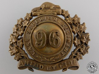 Canada. A 96th Lake Superior Regiment Cap Badge c.1910