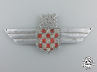 Croatia, Independent State. A Field Made Second War Legion Badge/Wing