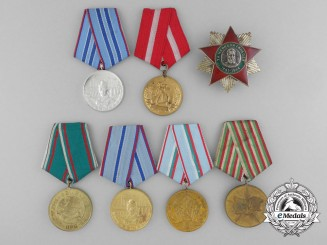 Seven Bulgarian Medals and Awards