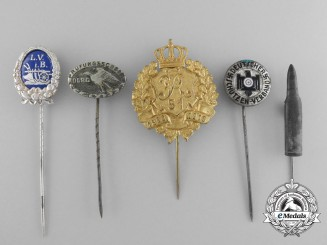 Five German Imperial Stickpins