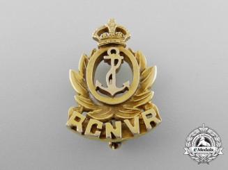 A Second War Royal Canadian Navy Volunteer Reserve Badge in Gold