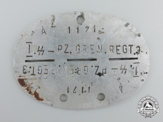 Germany, SS. A 1st SS Panzer Grenadier Regiment 3 ID Disc