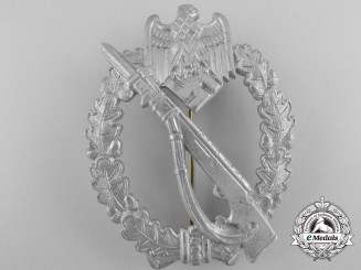 A Infantry Badge Silver Grade by Franz  Zimmermann