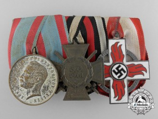 A First War & Fire Brigade Decoration Medal Bar