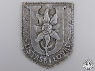 A  Ustaski Lovac Arm Badge of the Ustasha Rifleman's Brigade