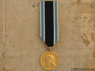 A Bavarian Gold Military Merit Medal