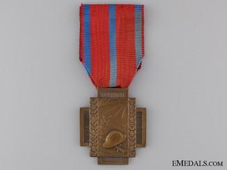 A Belgian Frontline (Fire) Service Cross 1914-1918; Type I